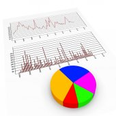 Graph Report Means Biz Trade And Diagram — Stockfoto