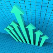 Progress Arrows Shows Financial Report And Analysis — Stock Photo