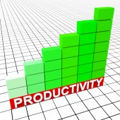Increase Productivity Means Progress Report And Analysis — Stock Photo