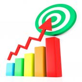 Target Report Represents Business Graph And Analysis — Stock Photo