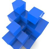 Blocks Design Shows Building Activity And Abstract — Stock Photo
