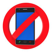Phones Banned Indicates Prohibit Caution And Safety — Stock Photo