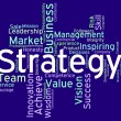 Strategy Words Means Planning Solutions And Wordcloud — Stock Photo #76609215