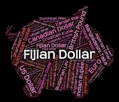 Fijian Dollar Indicates Currency Exchange And Coinage — Stock Photo