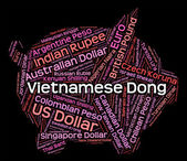 Vietnamese Dong Means Currency Exchange And Broker — Stock Photo