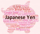 Japanese Yen Represents Currency Exchange And Broker — Stock Photo