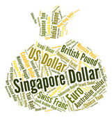 Singapore Dollar Represents Foreign Exchange And Banknote — Stock Photo
