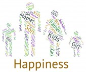 Family Happiness Shows Blood Relative And Cheerful — Stock Photo