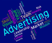 Wordcloud Advertising Shows Promotional Promote And Adverts — Stock Photo