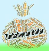 Zimbabwean Dollar Indicates Foreign Currency And Coin — Stock Photo