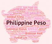 Philippine Peso Indicates Foreign Exchange And Coinage — Stock Photo