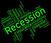 Recession Word Represents Financial Crisis And Bankruptcy — Stock Photo
