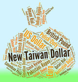 New Taiwan Dollar Represents Worldwide Trading And Currency — Stock Photo