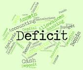 Deficit Word Indicates Financial Obligation And Debt — Stock Photo