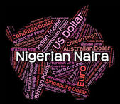 Nigerian Naira Indicates Foreign Currency And Banknotes — Stock Photo
