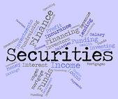 Securities Word Indicates Bad Debt And Arrears — Stock Photo