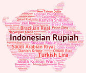 Indonesian Rupiah Represents Currency Exchange And Broker — Stock Photo