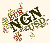 Ngn Currency Means Foreign Exchange And Banknote — Stock Photo
