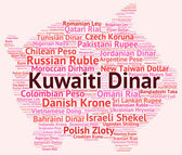Kuwaiti Dinar Represents Foreign Exchange And Currencies — Stock Photo