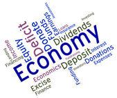 Economy Word Means Micro Economics And Economical — Stock Photo
