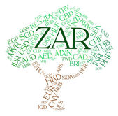 Zar Currency Indicates South African Rands And Currencies — Stock Photo