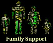 Family Support Indicates Blood Relative And Families — Stock Photo