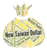 New Taiwan Dollar Shows Exchange Rate And Dollars — ストック写真