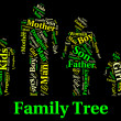 Family Tree Shows Blood Relative And Children — Stock Photo #76610569