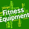 Fitness Equipment Means Trained Equipments And Athletic — Stock Photo #76610795
