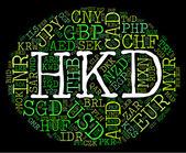 Hkd Currency Indicates Hong Kong Dollar And Coinage — Stock Photo