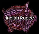 Indian Rupee Represents Currency Exchange And Broker — Stok fotoğraf