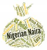 Nigerian Naira Means Forex Trading And Coin — Stock Photo