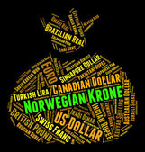 Norwegian Krone Means Currency Exchange And Broker — Stock Photo