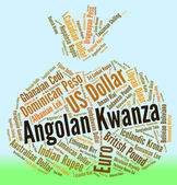 Angolan Kwanza Shows Forex Trading And Coin — Stock Photo
