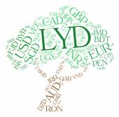Lyd Currency Represents Worldwide Trading And Coin — Stock Photo