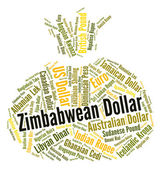Zimbabwean Dollar Shows Forex Trading And Currency — Stock Photo