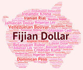 Fijian Dollar Shows Forex Trading And Currencies — Stock Photo