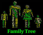 Family Tree Shows Blood Relative And Children — Stock Photo