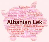 Albanian Lek Means Exchange Rate And Broker — Stock Photo