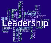 Leadership Words Represents Influence Guidance And Control — Stock Photo