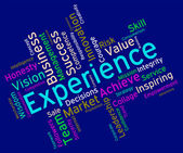 Experience Words Indicates Know How And Competency — Stockfoto