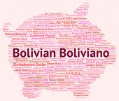 Bolivian Boliviano Indicates Exchange Rate And Banknotes — Stock Photo
