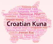 Croatian Kuna Means Foreign Exchange And Coin — Stock Photo