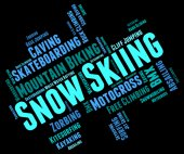 Snow Skiing Means Winter Sports And Mountain-Skier — Stock Photo