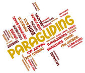 Paragliding Word Indicates Paraglider Glider And Paragliders — Stock Photo