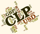 Clp Currency Means Foreign Exchange And Chile — Stock Photo