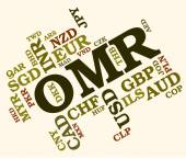 Omr Currency Indicates Oman Rials And Currencies — Stock Photo