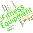 Fitness Equipment Indicates Equipments Words And Text — Stock Photo #77145365