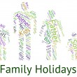 Family Holiday Indicates Go On Leave And Families — Stock Photo #77145895