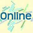 Online Word Means World Wide Web And Internet — Stock Photo #77145207